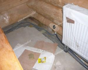 instalacja w domu z bala