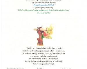 Podziękowanie MDK Sopot