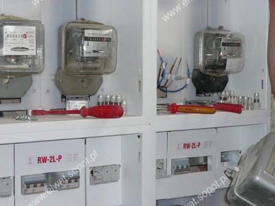 Tablice licznikowe, przyłącza elektryczne, WLZ